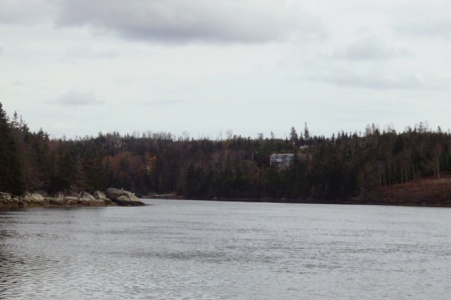 View from Petpeswick Inlet, Nova Scotia, property